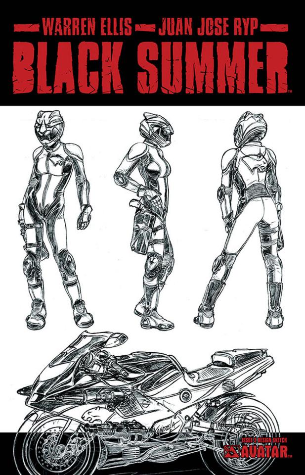 Black Summer #3 (Design Sketch Cover)