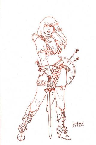 Red Sonja #18 (30 Copy Linsner Tint Virgin Cover)