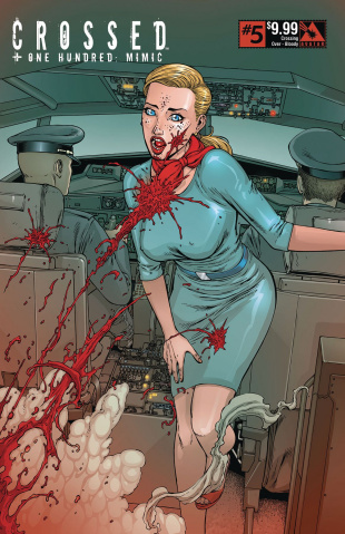 Crossed + One Hundred: Mimic #5 (Crossing Over Bloody Cover)