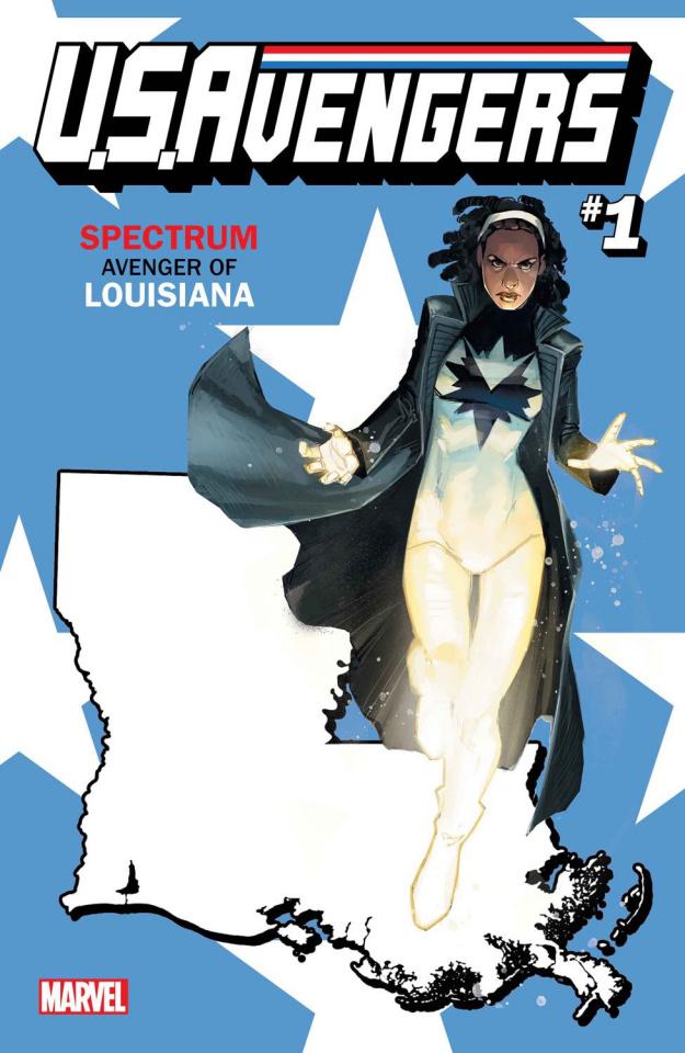 U.S.Avengers #1 (Reis Louisiana State Cover)