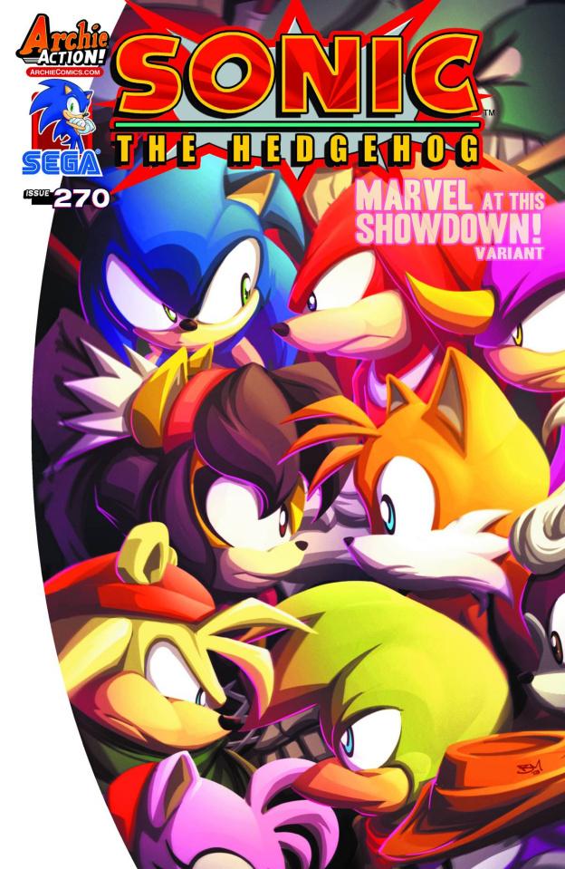 Sonic the Hedgehog #270 (Marvel Showdown Cover)