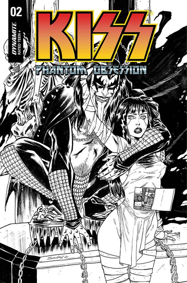 KISS: Phantom Obsession #2 (30 Copy Seeley B&W Line Art Cover)