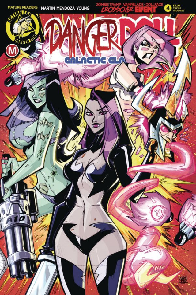 Danger Doll Squad: Galactic Gladiators #4 (Trom Cover)