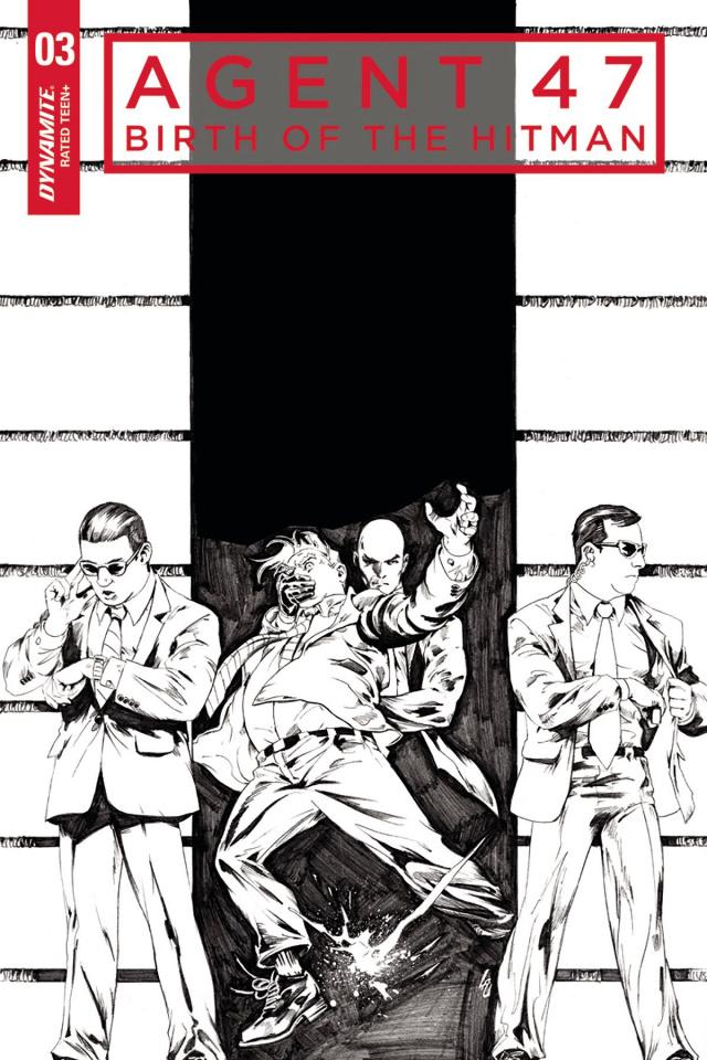 Agent 47: Birth of the Hitman #3 (10 Copy B&W Cover)