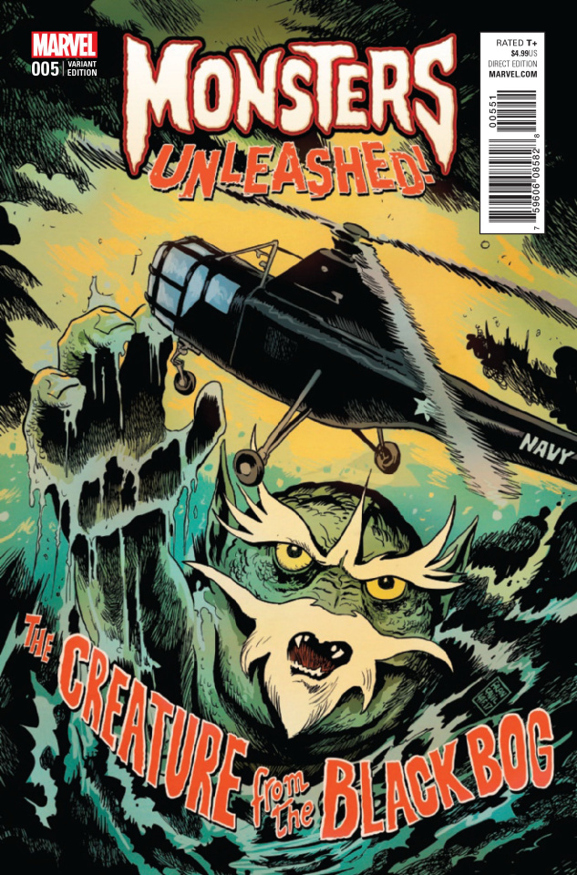 Monsters Unleashed! #5 (Francavilla '50s Movie Poster Cover)