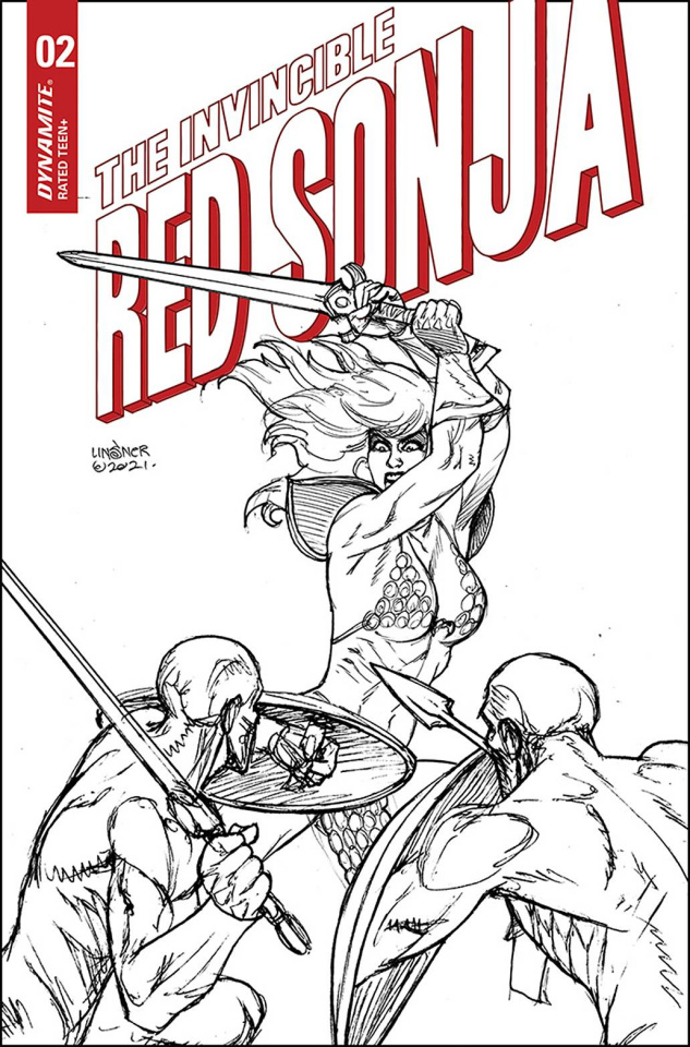 The Invincible Red Sonja #2 (25 Copy Linsner Line Art Cover)