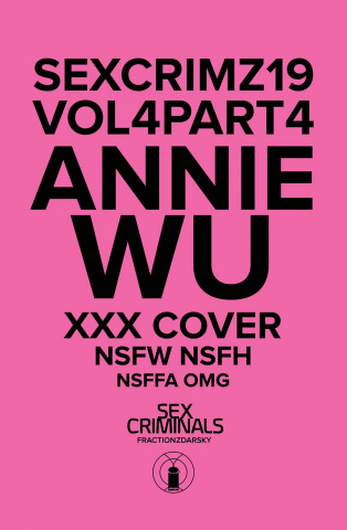 Sex Criminals #19 (XXX Annie Wu Cover)