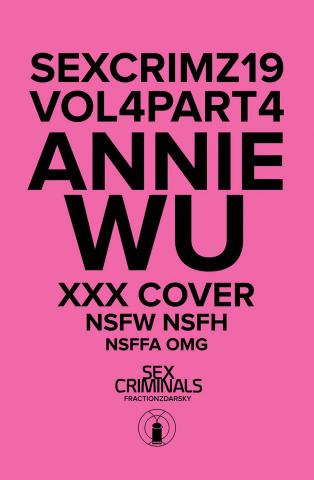 Sex Criminals #19 (XXX Annie Wu Cover)