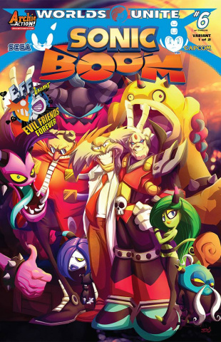 Sonic Boom #9 (Evil Friends Forever Cover)
