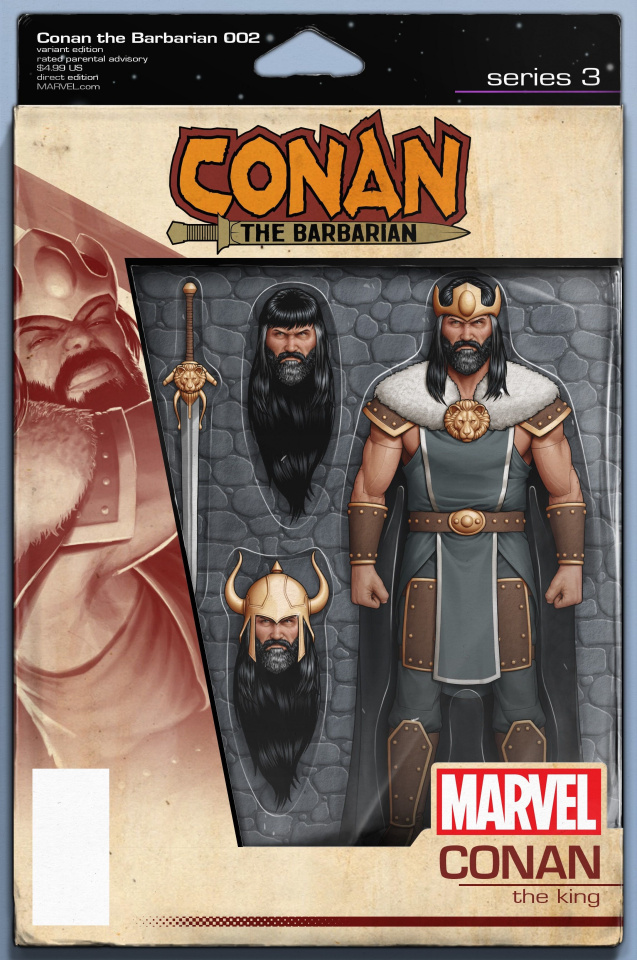 Conan the Barbarian #2 (Christopher Action Figure Cover)