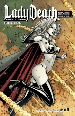 Lady Death: Apocalypse #0 (Heat of Battle Cover)