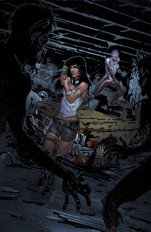 Aliens vs. Zombies #4 (Cafaro Cover)