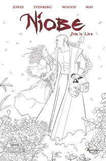 Niobe: She is Life #1 (Coloring Book Cover)