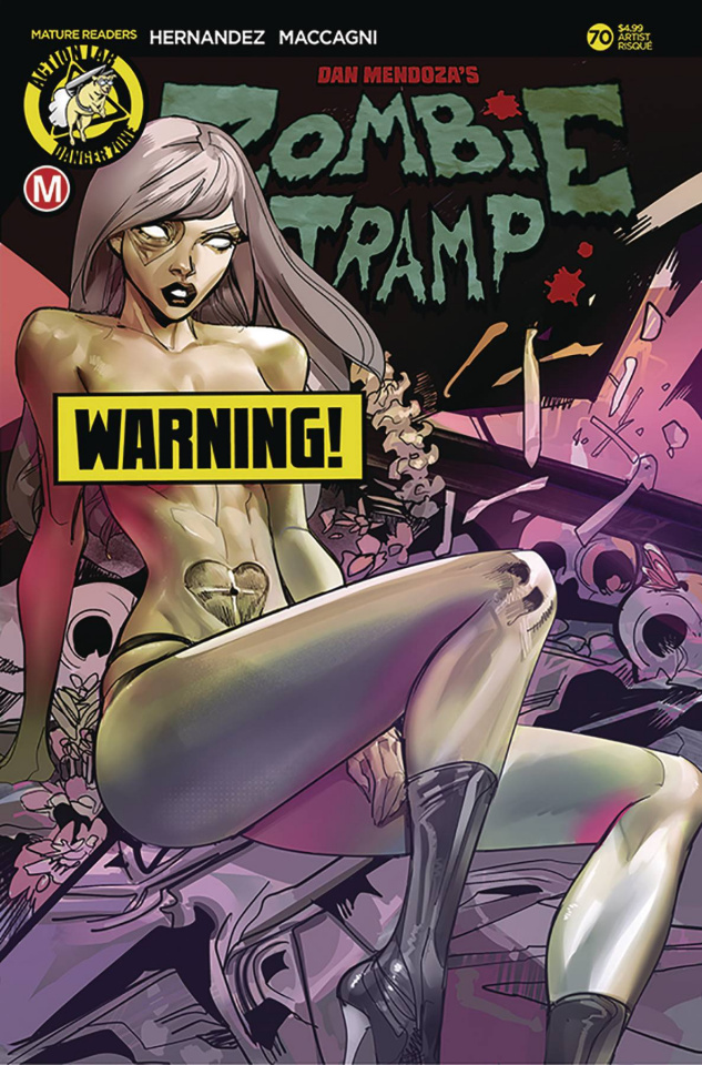 Zombie Tramp #70 (Celor Risque Cover)