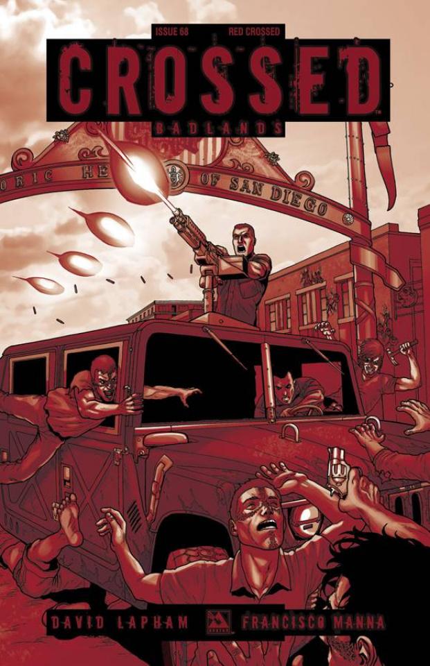 Crossed: Badlands #68 (Red Crossed Cover)