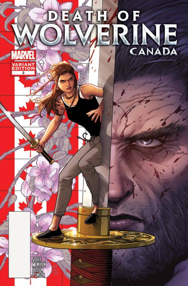 Death of Wolverine #3 (McNiven Canada Cover)
