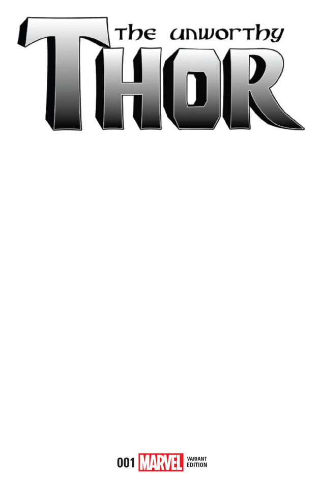 The Unworthy Thor #1 (Blank Cover)