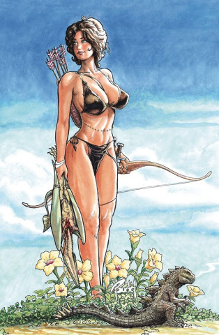 Cavewoman: A Barbarian, A Princess and Meriem (Budd Root Cover)