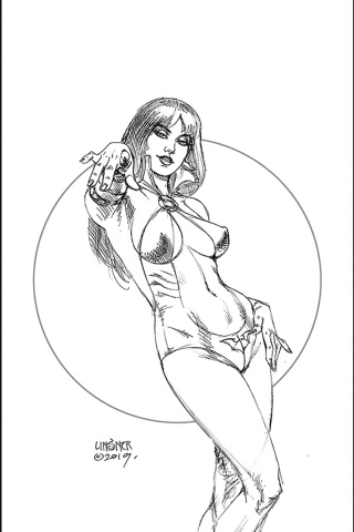 Vampirella #1 (Linsner Virgin B&W Cover)