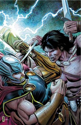 Thor #8 (Zircher Conan Cover)