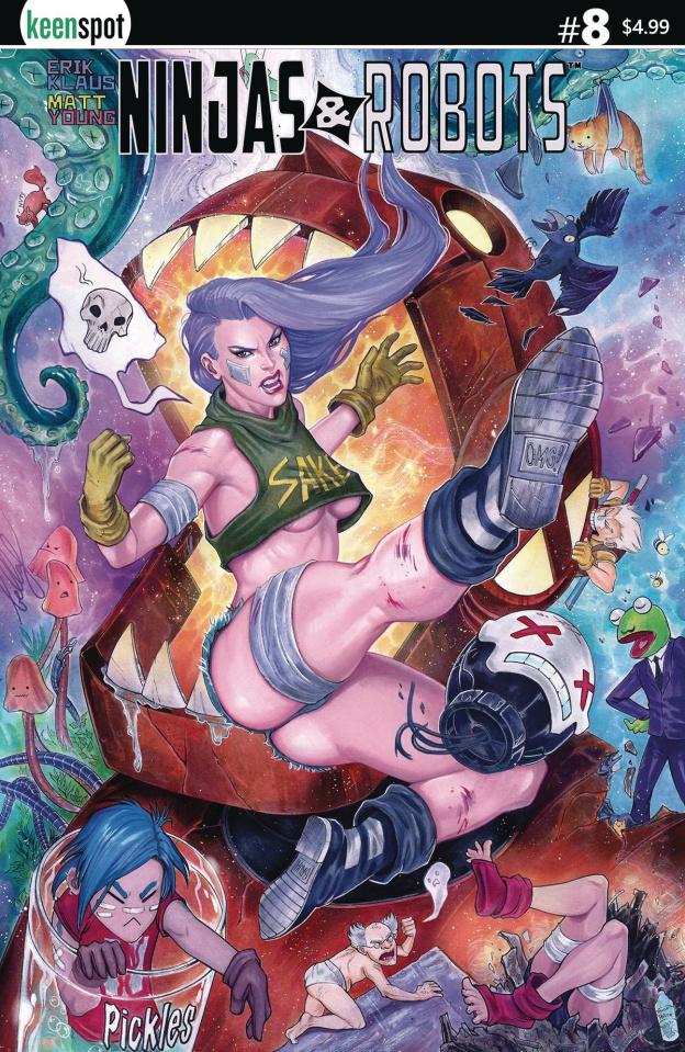 Ninjas & Robots #8 (Bella Rachlin Cover)