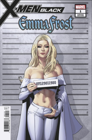 X-Men: Black - Emma Frost #1 (Larroca Mugshot Cover)