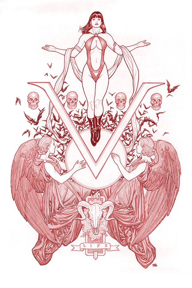 Vengeance of Vampirella #1 (Cho Ultra Limited Red Line Art Cover)