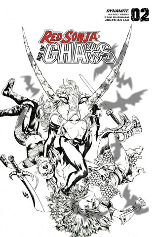 Red Sonja: Age of Chaos #2 (35 Copy Lau B&W Cover)