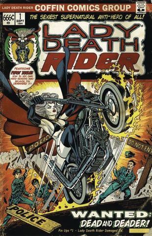Lady Death: Pin Ups #1 (Lady Death Rider Damaged Cover)