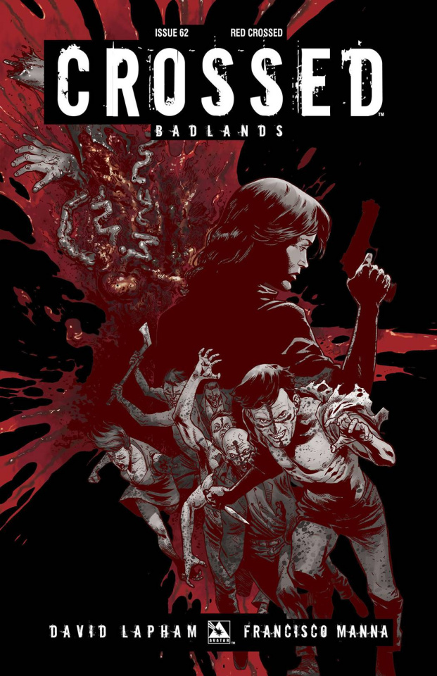 Crossed: Badlands #62 (Red Crossed Cover)