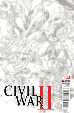 Civil War II #4 (B&W Virgin Connecting Cover)