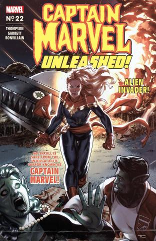 Captain Marvel #22 (Clarke Captain Marvel Unleashed Horror Cover)
