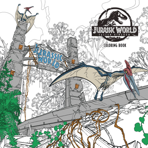 Jurassic World: Fallen Kingdom Coloring Book