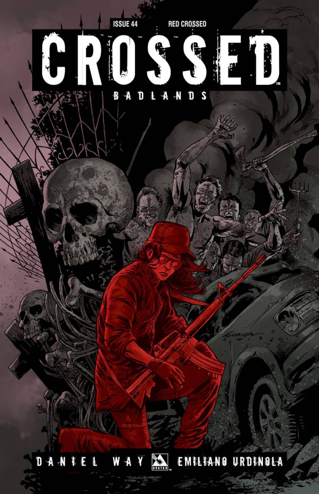Crossed: Badlands #44 (Red Crossed Cover)