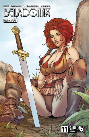 Belladonna: Fire and Fury #11 (Shield Maiden Cover)