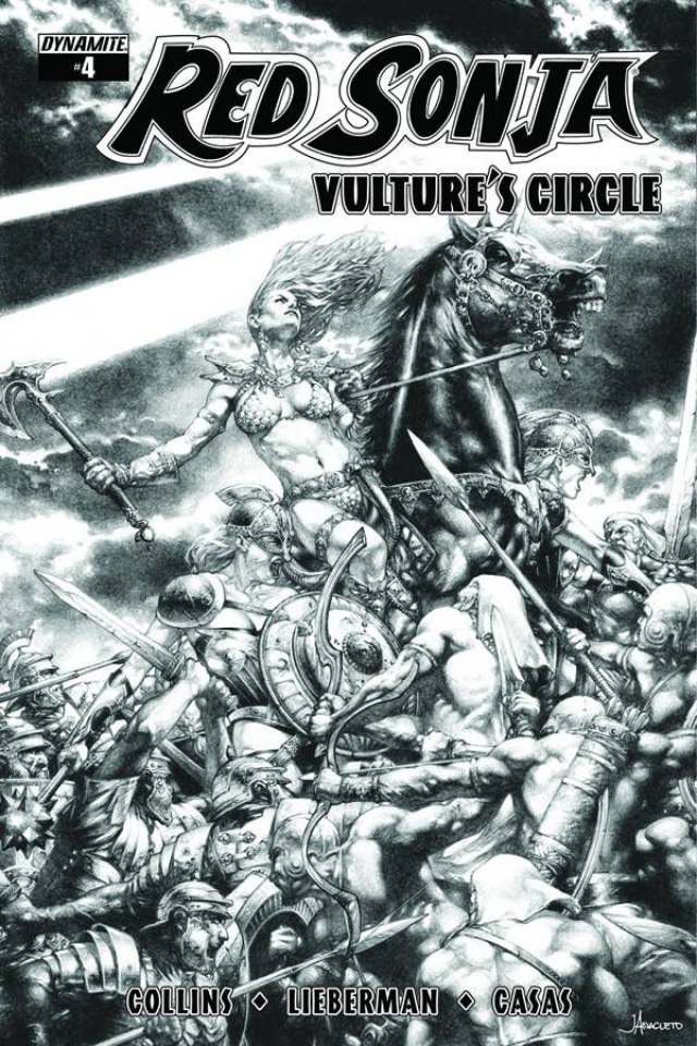 Red Sonja: Vulture's Circle #4 (10 Copy Anacleto B&W Cover)