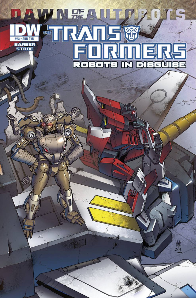 The Transformers: Robots in Disguise #33 (Subscription Cover)