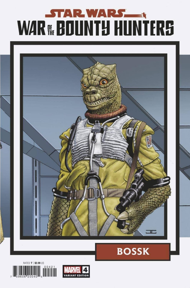 Star Wars: War of the Bounty Hunters #4 (Trading Card Cover)