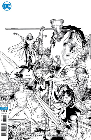 Titans #23 (Black and White Cover)