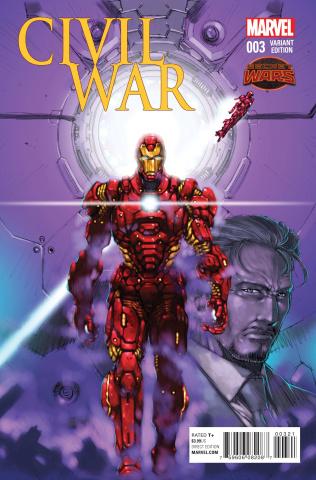 Civil War #3 (Asamiya Manga Cover)