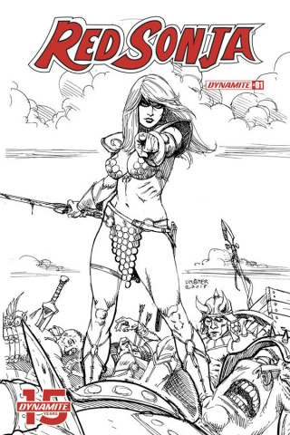 Red Sonja #1 (30 Copy Linsner B&W Cover)