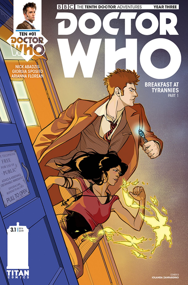 Doctor Who: New Adventures with the Tenth Doctor, Year Three #1 (Zanfardino Cover)