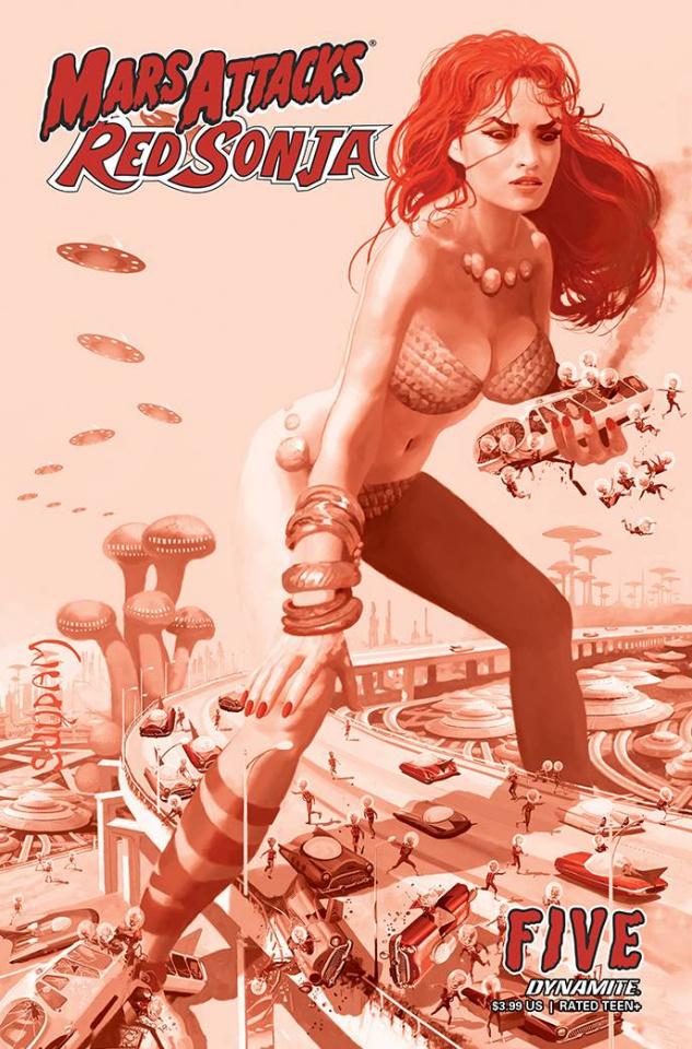 Mars Attacks / Red Sonja #5 (21 Copy Suydam Tint Cover)