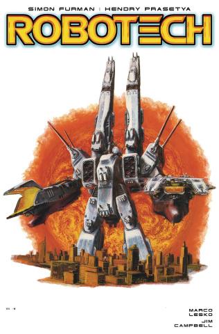 Robotech #19 (SDF-1 Cover)
