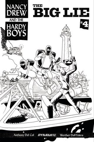 Nancy Drew and The Hardy Boys #4 (10 Copy Bullock B&W Cover)