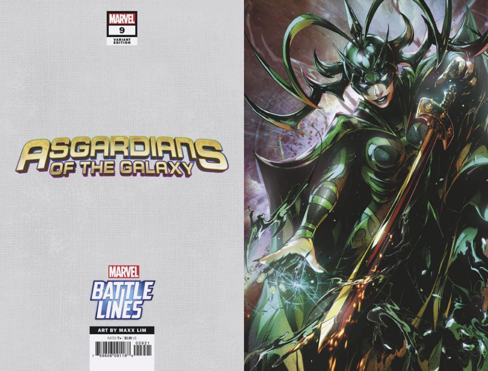 Asgardians of the Galaxy #9 (Maxx Lim Marvel Battle Lines Cover)