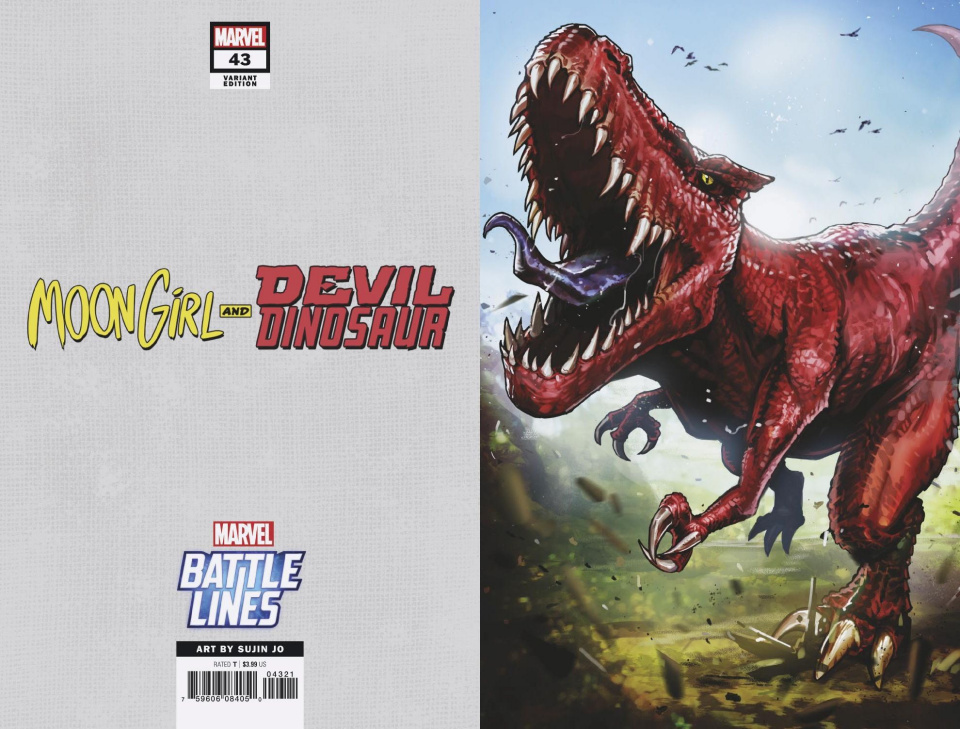 Moon Girl and Devil Dinosaur #43 (Sujin Jo Marvel Battle Lines Cover)