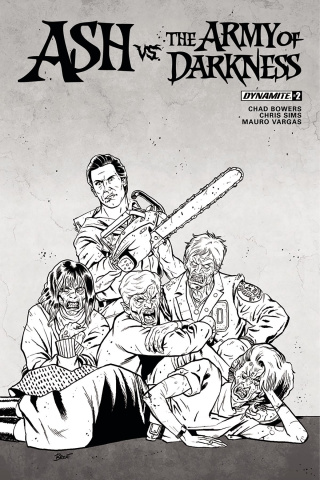 Ash vs. The Army of Darkness #2 (10 Copy Schoonover B&W Cover)