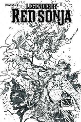 Legenderry: Red Sonja #3 (10 Copy Davila B&W Cover)