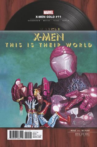 X-Men: Gold #11 (Del Mundo Rock 'N Roll Cover)